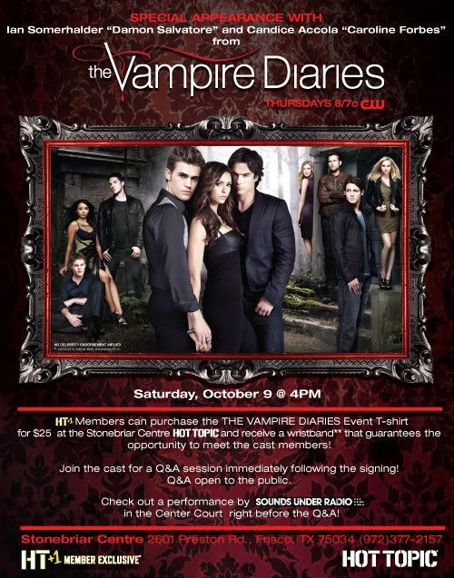 Ian Somerhalder and Candice Accola Appearing at Stonebriar Centre Mall  Vampirediariestx