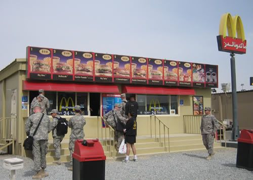 Shops in Iraq bases and FOBs AirBaseMcDs