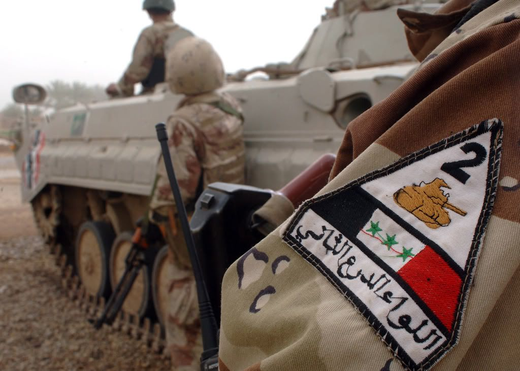Patches worn by New Iraq Army. 114676616_b8f5ad51d4_b
