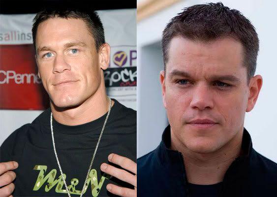John Cena (Luchador de la WWE, Actor, Músico) Matt-Damon-Cena