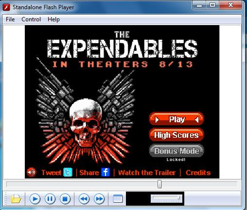 The Expendables: The 8 Bit Game Standalone-Flash-Player-reproductor