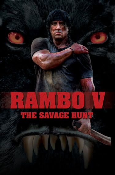 Sylvester Stallone Rambo-v-the-savage-hunt-movie-poster