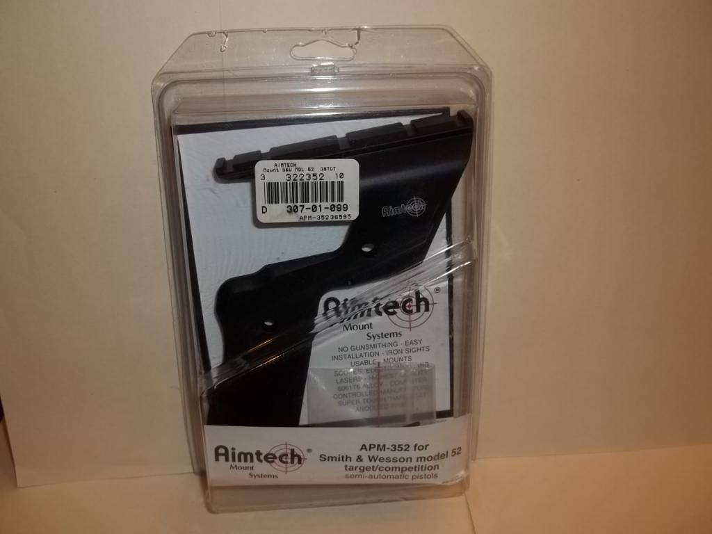 WTS Aimtech Mounts for 1911 (sold),  HS (sold) and S&W 52 (sold) AimtechSW52