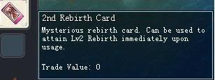 Items obtainable from NPCs 2ndRebirthCard-1