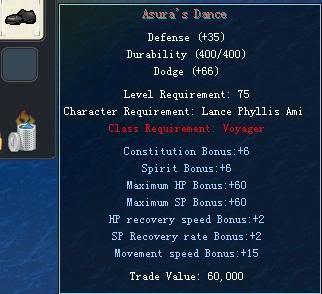 Items obtainable from NPCs AsurasDance