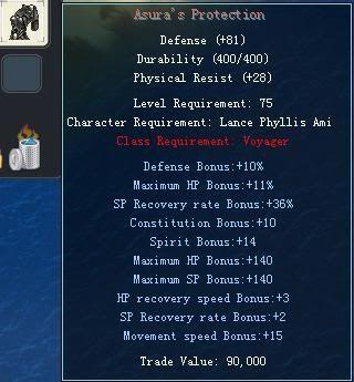 Items obtainable from NPCs AsurasProtection