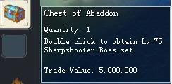 Items obtainable from NPCs ChestofAbaddon