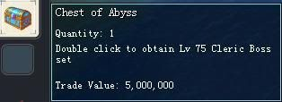 Items obtainable from NPCs ChestofAbyss