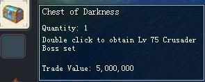 Items obtainable from NPCs ChestofDarkness