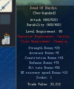 Items obtainable from NPCs DeadOfHardin