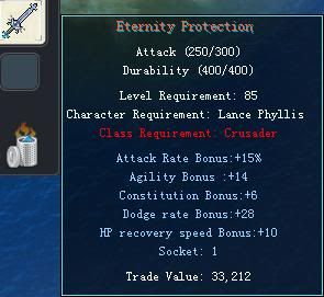 Items obtainable from NPCs EternityProtection