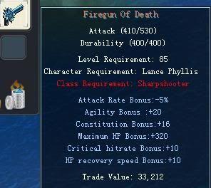 Items obtainable from NPCs FiregunOfDeath