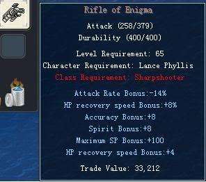 Items obtainable from NPCs RifleofEnigma