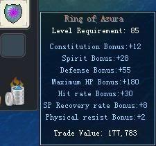 Items obtainable from NPCs RingofAsura