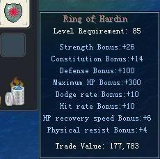 Items obtainable from NPCs RingofHardin