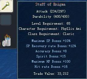 Items obtainable from NPCs StaffofEnigma