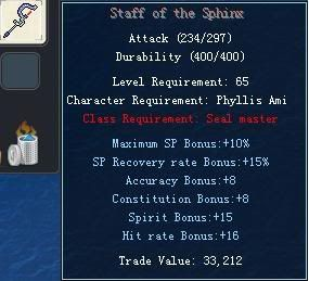 Items obtainable from NPCs StaffoftheSphinx