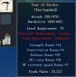 Items obtainable from NPCs TearofHardin
