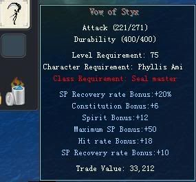Items obtainable from NPCs VowofStyx