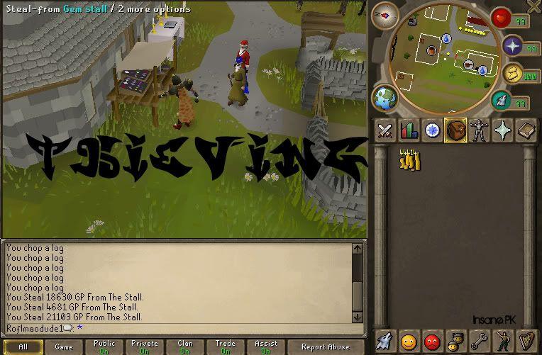 Rune-Lite 508/525 Thieving