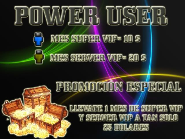 PAQUETES  VIP - NUEVO POWER USER BannersilloPROMOCIONPU