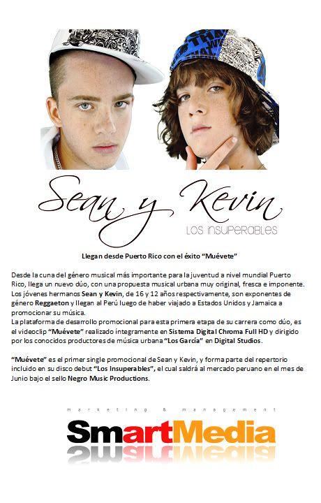 """Los nuevos idolos del reggaeton mundial Sean y Kevin """"Los Insuperables"""" NotaPrensacompletaSeanyKevin"""
