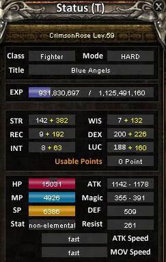 CrimsonRose's Fighter Guide Toonstats