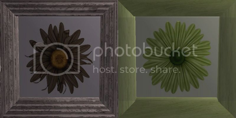 Flowery Picture-Frame - New Mesh by Anidup BrownGreen
