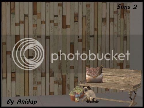 The Sims 2: Distressed Wood Walls WWBeigeGreen_zpsv6lvwyhl