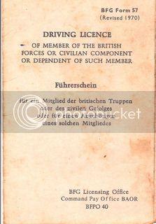 BFG Driving License