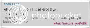 JoonDoong <3 Thunder&Joon 091111CDtoJoon