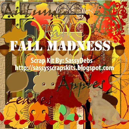 SD Fall Madness Scrap Kit FTU SDFallMadnessPreview