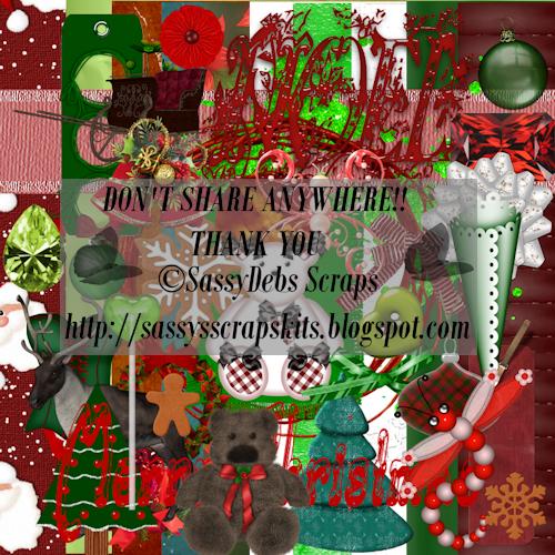 SD ~ Christmas Kit 1 FTU SDChristmasFTUKit1