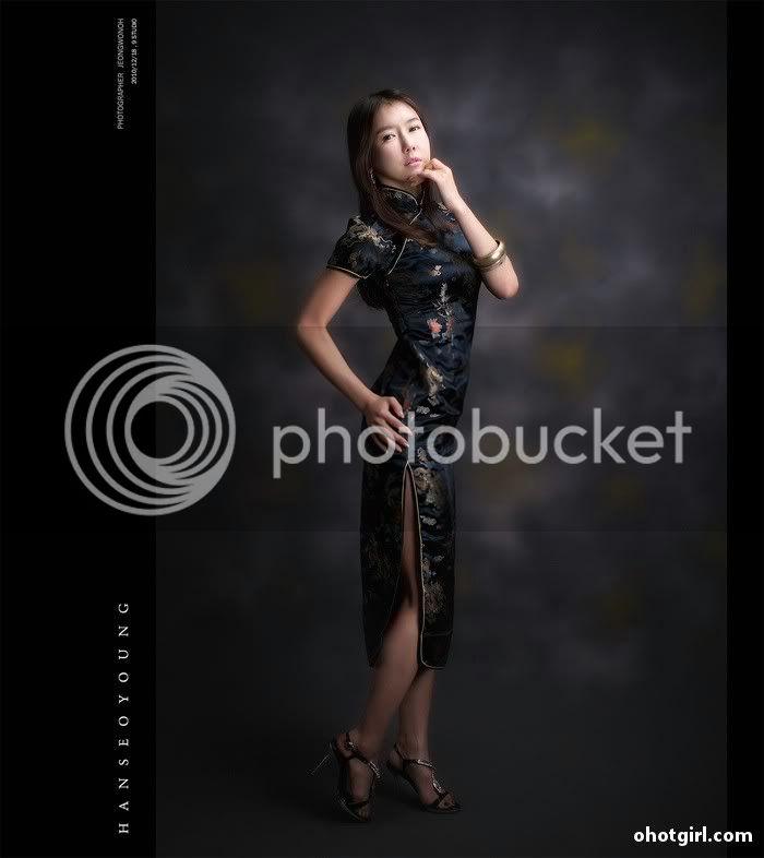 Han Seo Yeong- Three sets Han-Seo-Yeong-Black-Cheongsam-08