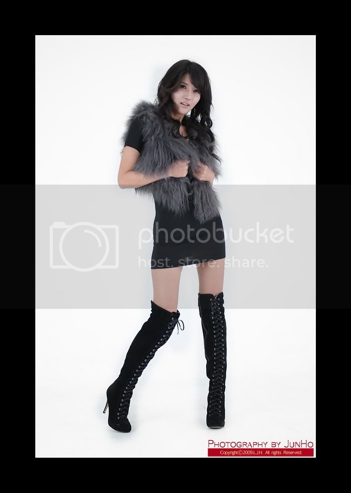 Cha Sun Hwa - Black Mini Dress Cha_Sun_Hwa_Black_Mini_Dress_3