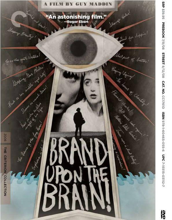 """[Film] Des Trous Dans La Tête. film """"muet"""" en noir et blanc de Guy Maddin. 2006, Canada. Brand_upon_the_brain_criterion_dvd"""