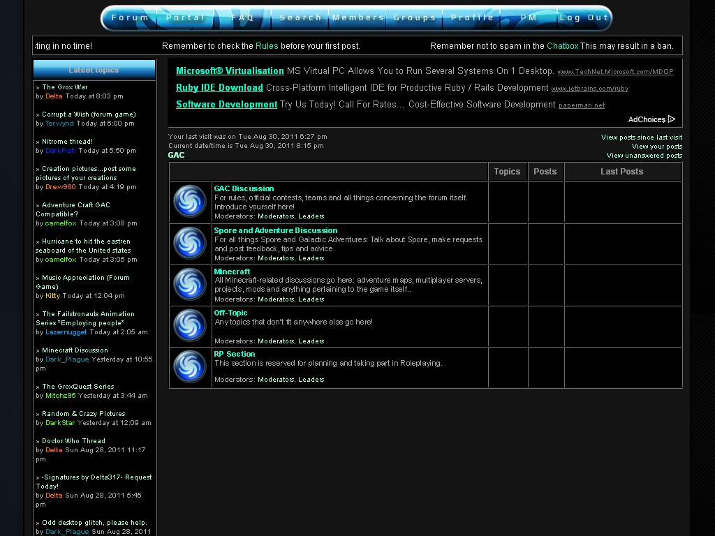 *IMPORTANT* Forum Undergoing Changes  GACSectionCondensation