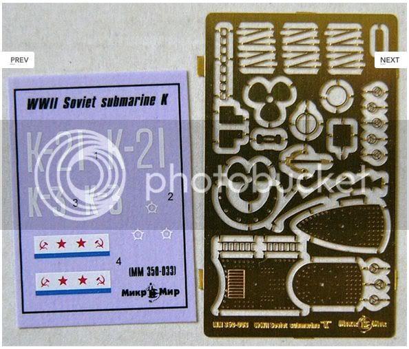 Kits de submarinos da Mikro Mir 2-19