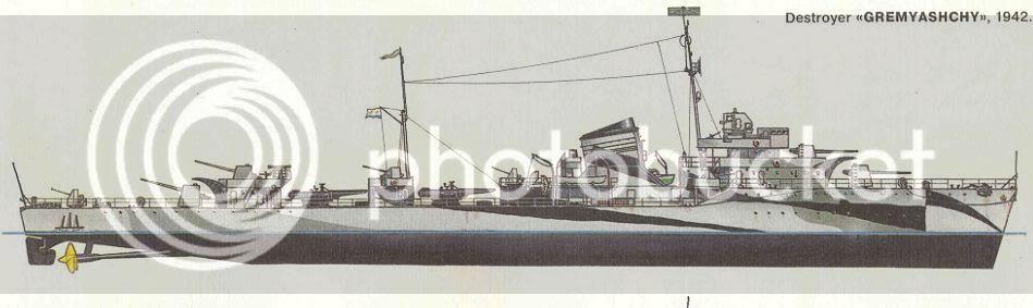 Destroyer soviético Gremyashiy da classe Gnevny GREM