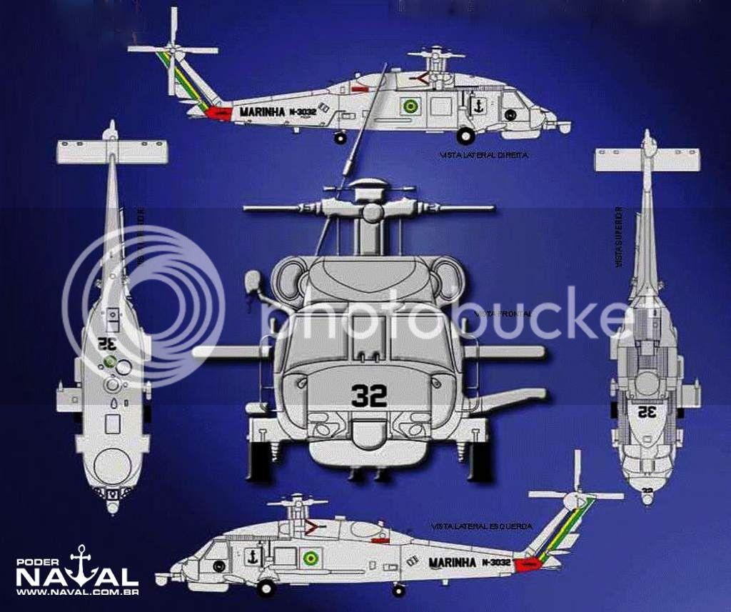 Helicópteros MB: Aviação Naval Brasileira, Seahawk MH 16 e Cougar/ EC725 Super Cougar Aer