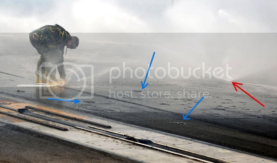 Búricas a bordo de PAs Sprinklers