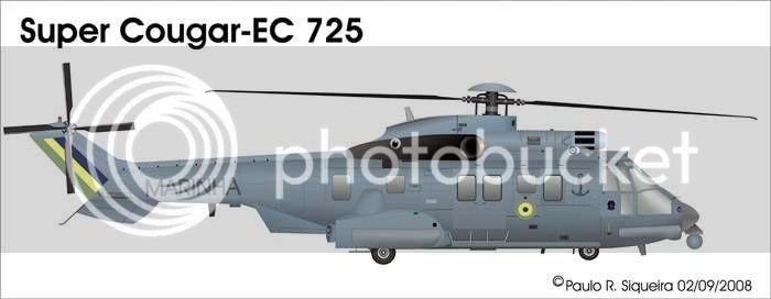 Helicópteros MB: Aviação Naval Brasileira, Seahawk MH 16 e Cougar/ EC725 Super Cougar Ec725brsz7