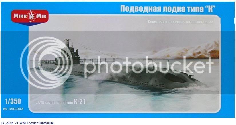 Kits de submarinos da Mikro Mir Lanamentodok21