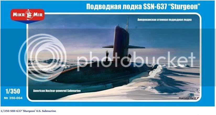 Kits de submarinos da Mikro Mir Lanamentodosturgeon