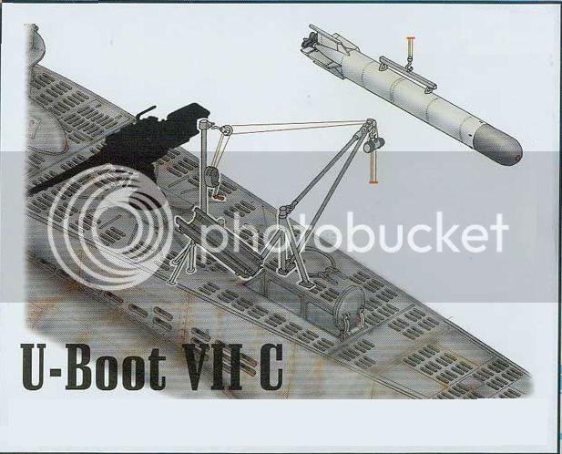 Guincho de vante para carregamento de torpedos de  U-Boats 33