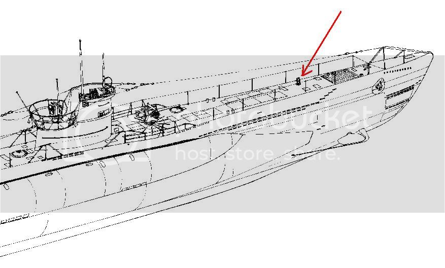Guincho de vante para carregamento de torpedos de  U-Boats 55
