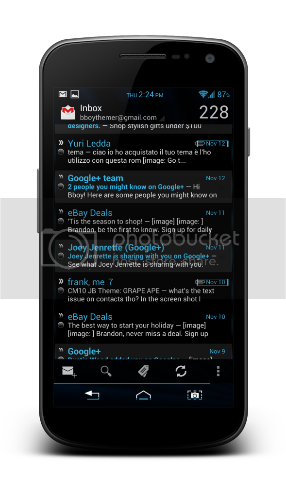 "[GAPPS][24/06/2013] Google Play Store et autres Applications en Noir ou Transparent ""Team BlackOut"" Blackgmail"