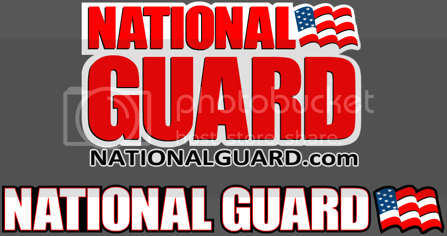 BIG EVIL Racing + Designs NationalGuardLogoSet