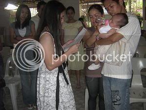 Paulo and Sally's daughter, Khen Eowyn, Christening Ke13