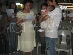 Paulo and Sally's daughter, Khen Eowyn, Christening Ke15